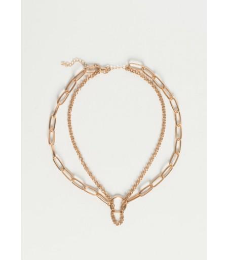 Collar Multicadenas Dorado
