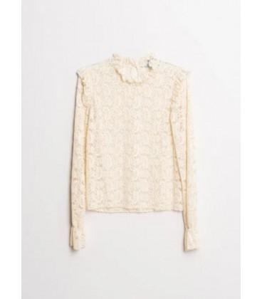 Top encaje beig comprar online camisetas mujer otoño invierno