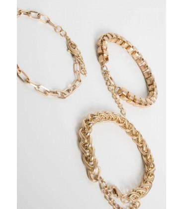 Pulsera de mujer modelo cadenas doradas Accesorios de mujer de joyeria primavera verano
