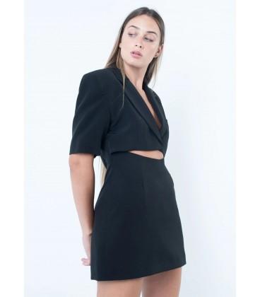 Vestido corto de mujer tipo blazer de color negro Otoño Invierno