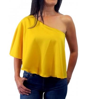 capa top asimétrico de mujer amarillo fluor anatomia shop.Moda femenina,tendencias y ropa femenina online