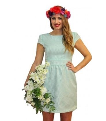 vestido de mujer corto topos y borlas rosa .Moda mujer online Rebajas ropa de mujer online 2017