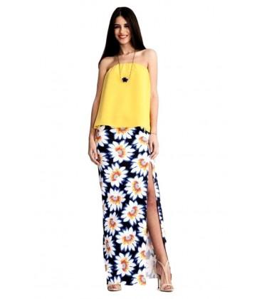 Top de mujer Palabra De Honor Liso Amarillo.Moda mujer, ropa femenina y tendencias online Rebajas mujer verano 2017
