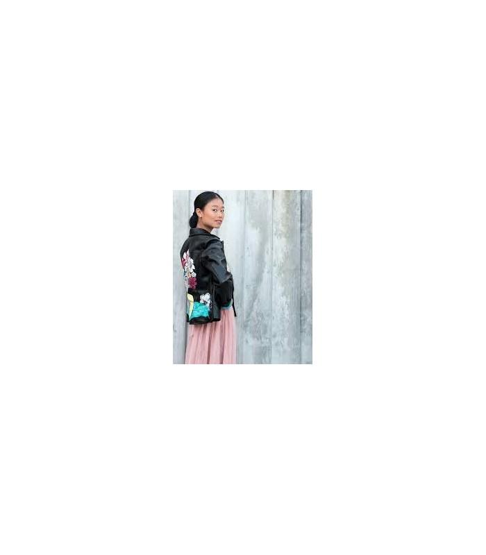 2f73bfcfdac Falda-Tul-Rosa semitransparente con forro en rosa y cintura bordada