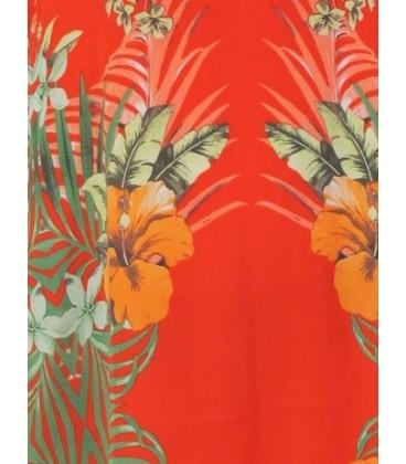 top de mujer palabara de honor palma estampado flores y palmas.Moda , tendencias y ropa de mujer online